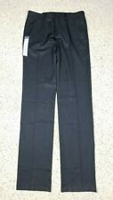 Haggar Men's Slim Performance Slacks Wrinkle Free Heather Gray Pants 34x38 NEW