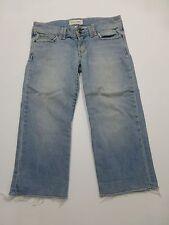 Abercrombie & Fitch Womens Size 2 Cut Off Capri Blue Jeans Good Condition