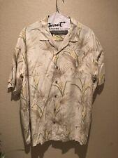 Mens Tommy Bahama 100% Silk Aloha Hawaiian Palm Tree Camp Shirt Size XXL