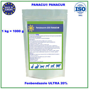 ✅ PANACU®  PANACUR Dewormer  Fendeworm 200 mg. 10 gram -1000 gram  BEST QUALITY