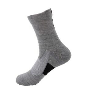 Lot 1-12 Gray Mens Athletic Cotton Casual Long Sport Work Crew Socks Size 9-11