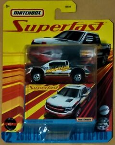 2020 MATCHBOX SUPERFAST #12 - 2010 FORD F-150 SVT RAPTOR