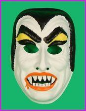 Childs DRACULA VAMPIRE Halloween COSTUME MASK Kids Horror Monster VINTAGE NEW
