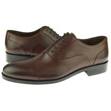 "Alex D ""Madison"" Cap Toe Oxford, Men's Formal Dress Leather Shoes, Brown"