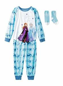 FROZEN Elsa Olaf Toddler Girls FLANNEL Pajamas 2 Piece Set Pants Long Sleeves