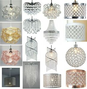Modern Chandelier Acrylic Crystal Light Shades Beaded Droplet Ceiling Pendant