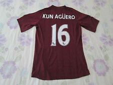 "Manchester CITY FOOTBALL CAMISA TAMAÑO 38"" número 16 Kun Agüero Umbro BNWT"