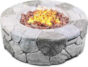 Centurion Supports Fireology KALUYA Grey Lavish Garden & Patio Gas Fire Pit