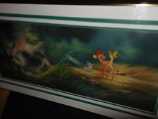 """Disney collectibles Cel Bambi """"Bambi with Thumper and butterfly"""""""