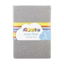 Single Bed Kids Jersey Fitted Sheet & Pillow case Set: Grey Marle: soft & warm