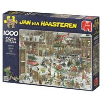 Christmas Puzzle 1000 Piece Jan van Haasteren Cartoon Comic Jigsaw JVH Jumbo