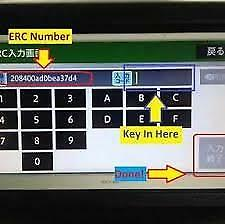 ERC Unlock Code Japanese Car Radio Toyota Nissan in minute