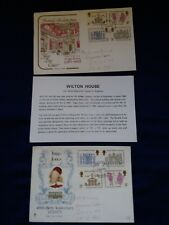 3 x Royal Mail First Day Cover FDC stamps 1973 Indigo Jones British Architecture