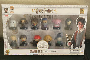 Harry Potter Self-Inking Collectible Vinyl Figure Stampers Gift Set of 12 Stamps