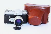 "RARE 1962 START EXPORT Edition Soviet SLR film camera w/s lens ""Helios 44"" EXC"