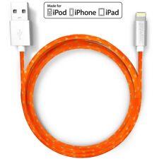 Pawtec Premium Lightning to USB Charge and Sync Cable Apple MFi Tangerine Orange