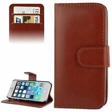 Handy Hülle Schutz Case Cover Schale Bumper Etui für Apple iPhone SE Braun Neu