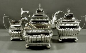 Liberty Browne Silver Tea Set              c1810 MUSEUM