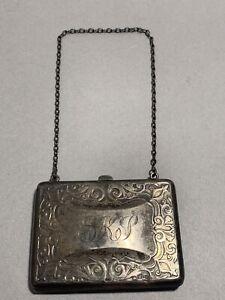 R. Blackinton & Co. Sterling Silver (.925) 3 Pocket Wallet Case #3039 (Engraved)