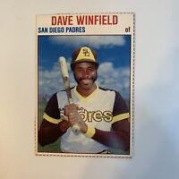 1979 Hostess Dave Winfield # 125 San Diego Padres MLB Baseball Card Hand Cut HOF