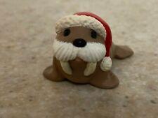 Hallmark 1990 Christmas Merry Miniature Walrus with Santa Cap and Gold Sticker