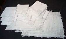 Antique Italian Linen Placemats + Napkins Set Of 20 Pointe De Venise Needlelace