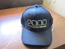 vintage trucker hat 2000 THE NEW MILLENNIUM dark blue adjustable