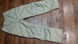 Columbia Sportswear Womens Sz 18-20 Tan Ski Snow Pants w/Tectonite *Free Ship*
