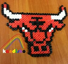 Chicago Bulls Perler Necklace Free Shipping