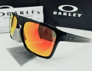 "Custom OAKLEY black iridium +GALAXY fire POLARIZED ""SLIVER XL"" sunglasses NEW!"