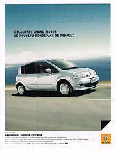 PUBLICITE ADVERTISING 124  2008   RENAULT    MONOSPACE GRAND MODUS