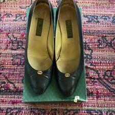 Gucci vintage black heels 38.5