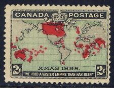 Canada #86(3) 1898 2 cent pale blue Christmas MH CV$60.00