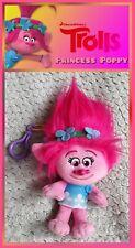 DreamWorks TROLLS Princess Poppy hanging cuddly plush soft toy beanie bag charm