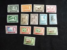 Malaya:  Kelantan 1957 Definitive Set with  additional $2 & $5 perf 13 X 12.5 mo
