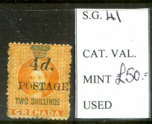 Grenada 1888 Revenue Stamps Surcharged for Postage SG 41 mint (2021/01/25#03)