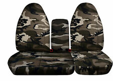 Ford F150 40-60 HIBACK SEAT COVER+CONSOLE ( one cupholder) COVER army camo#13
