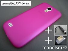 Funda Carcasa Rosa Fucsia Semitransparente para Samsung Galaxy S4 mini (i9195)