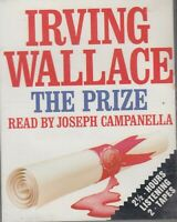 Irving Wallace The Prize 2 Cassette Audio Book Nobel Prize Thriller FASTPOST