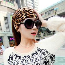 Wide YOGA Headwrap Women Leopard Bandana Fabric Headband Elastic Hairband Turban