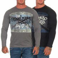 Timezone Herren langarm Shirt Herrenshirt Longsleeve Langarmshirt Pulli 22-10102