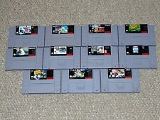 Lot of 11 Super Nintendo SNES Sports Games with some Boxes/Manuals NHL NFL More
