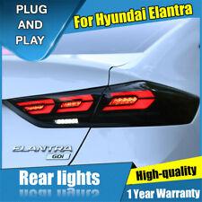 For Hyundai Elantra Dark LED Rear Lamps Assembly LED Tail Lights 2016-2018