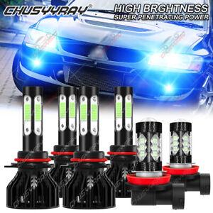 For Mitsubishi Lancer 2008 2009 2010 2011 2012-2017 LED Headlight+Fog Light Bulb