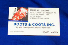 Boots & Coots Business Card Red Adair Oil Well Field Firefighting Patch Sticker