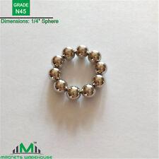 "10-count neodymium N45 rare earth NdFeb Sphere magnets 1/4""(True N45)"