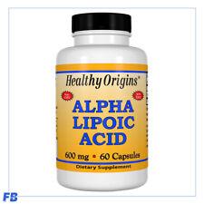 Healthy Origins Alpha Lipoic Acid 600mg 60 Capsules