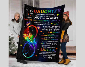 To my daughter gift from mom to daughter fleece sherpa blanket gifts