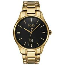 Hugo Boss Black Governor Gold Plated Mens Watch 1513521