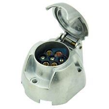 7 Pin Metal Trailer Plug Socket 12N Towing Electric Caravan Car Boat Marine
